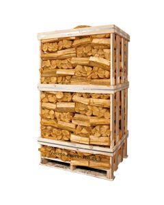 Birk/ask assorteret - langtidstørret brænde - 90 net-sække á 25 liter