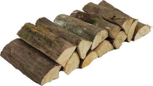 brænde af avnbøg. Avnbøg er en meget hård træsort med gode gløder
